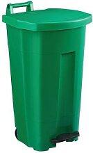 poubelle 90 l boogy mobile à pedale vert vert