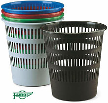 Poubelle à grille en plastique 12 l. noire - Faibo