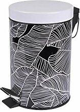 poubelle à pedale 3 l metal imprime amazonia