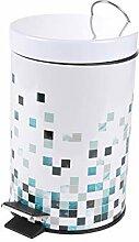 poubelle à pedale 3 l metal imprime bisazza