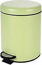 poubelle à pedale 3 l metal uni mat vitamine sdb
