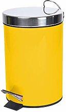 poubelle à pedale 3 l metal uni metalia miel