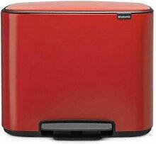 poubelle à pédale 36l rouge passion - 121401 -