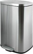 Poubelle à pédale Inox AKIRA 50L Brossé - Gris