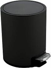 Poubelle à pédale Inox RIKU 3L Noir Mat - Noir -