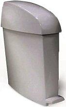poubelle à pédale sanitaire 12 l gris rubbermaid