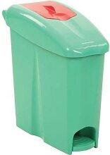 poubelle à pédale sanitaire binny17p vert rouge