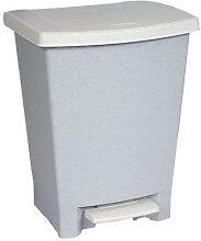 poubelle à pédale sans bac plastique 25 l.