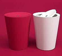 Poubelle à rabat en plastique pour compost -