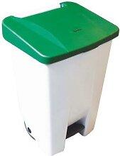 poubelle agroalimentaire mobile à pédale 80 l