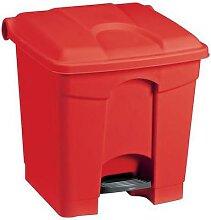 poubelle agroalimentaire plastique à pédale 30 l
