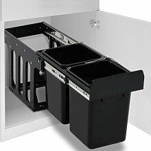 poubelle amovible de cuisine fermeture en douceur