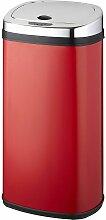 poubelle automatique 42l rouge/inox - bat-42ls02a