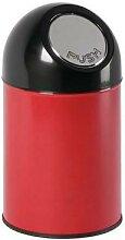 poubelle bullet avec liner 30l rouge/noir