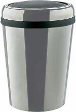 Poubelle cylindrique à couvercle basculant |