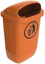 poubelle d'extérieur de rue 50l orange