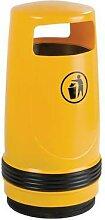 poubelle d'extérieur merlin 90l jaune