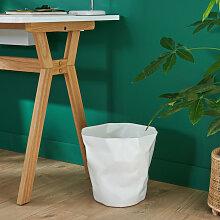 Poubelle de Bureau Design Blanche 16 litres HOOK -