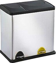 Poubelle de cuisine à pédale tri sélectif 36L