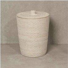 Poubelle de salle de bain en fibre végétale 34001