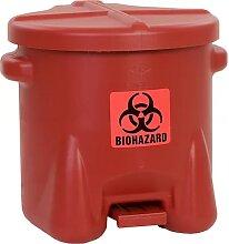 Poubelle de sécurité en PE pour déchets à