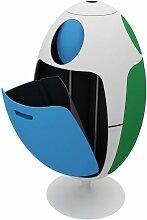 Poubelle de tri Ovetto tricolore 84x45 Bleu-Vert -