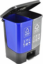 Poubelle Double bac de recyclage double