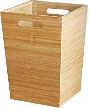 Poubelle en bois en bambou forme de cube Poubelle