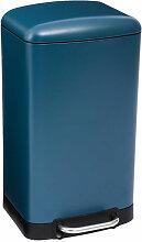 Poubelle en Métal 30 Litres coloris Bleu