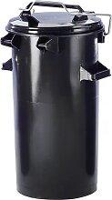 Poubelle en plastique capacité 50 l, h x Ø 730 x