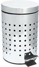 Poubelle inox 3 litres cube