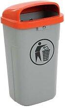 poubelle plastique d'extérieur ininflammable