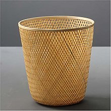 Poubelle Poubelle en bambou cannée à découvert