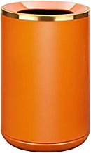 Poubelle Poubelle en métal orange avec ouverture