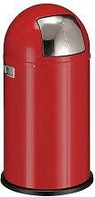 poubelle pushboy 50l rouge