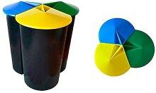Poubelle recyclage 3 compartiments 40L Zanvic