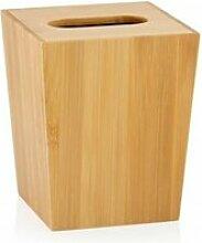 Poubelle salle de bain de table en bambou