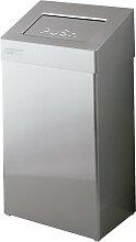 Poubelle sanitaires retour automatique grise 18L