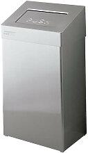 Poubelle sanitaires retour automatique grise 50L