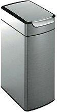 poubelle slim touch-bar 40l inox mat