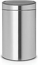 poubelle tri sélectif 23+10l matt steel - 100680