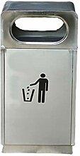 poubelles Poubelle en acier inoxydable avec