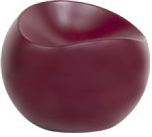 Pouf Ball Chair / Finition mate - XL Boom violet