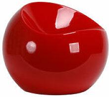 Pouf Ball Chair - XL Boom rouge en matière