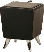 Pouf carré Roxy noir