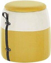 Pouf coffre jaune ruby 225076