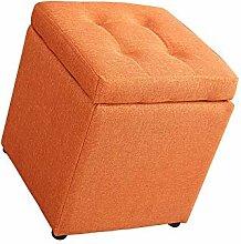 Pouf cube pliable coffre de rangement Pouf Ottoman