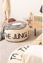 Pouf en coton pour enfants Jungle Beige Lin Sklum