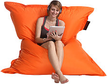 Pouf géant design orange BIG MILIBAG