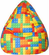 Pouf poire enfant Bricks XL